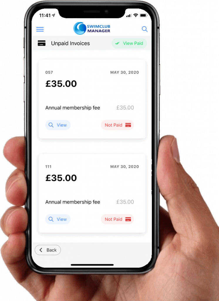 invoices on mobile app